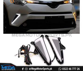 Toyota CHR DRL Nike Style / Fog Cover Nike Style