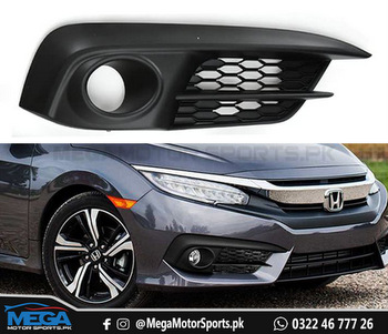 Honda Civic Front Bumper Fog Cover - Right - For 2016 2017 2018 2019 2020 2021